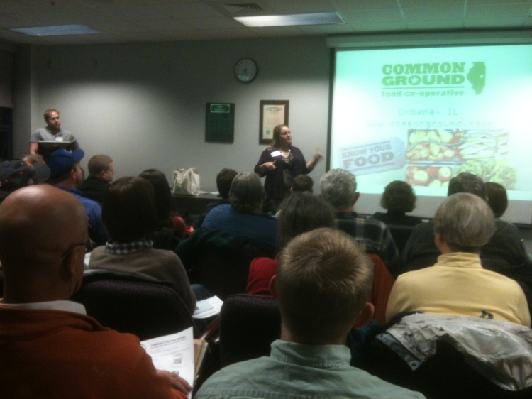 Jacquelyn Hanna of Common Ground at the BloNo Community Meeting 3.6.12