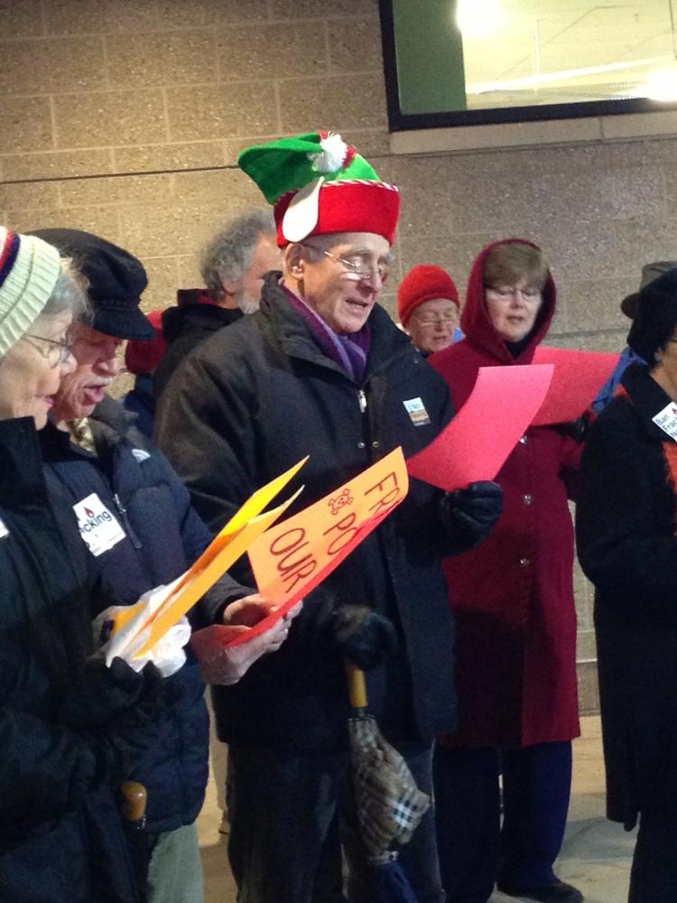 Singing Anti-fracking Holiday Songs