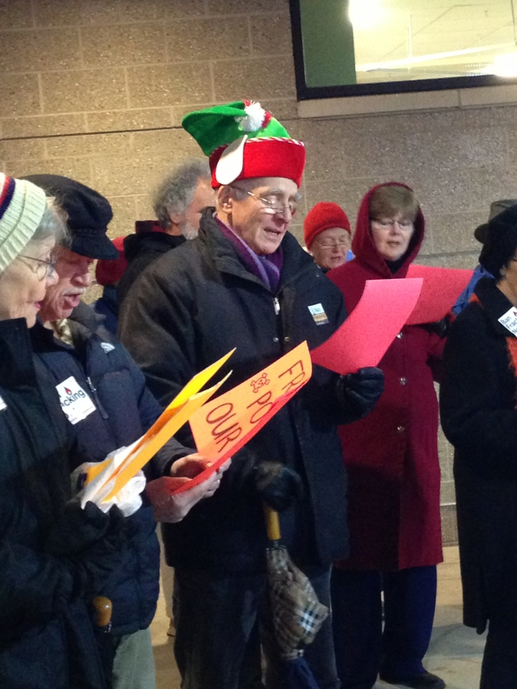Singing Anti-fracking Holiday Songs