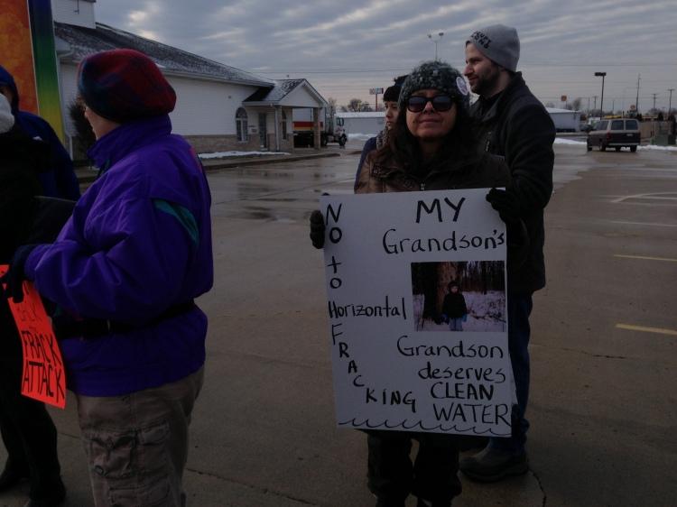 Protesting fracking bill