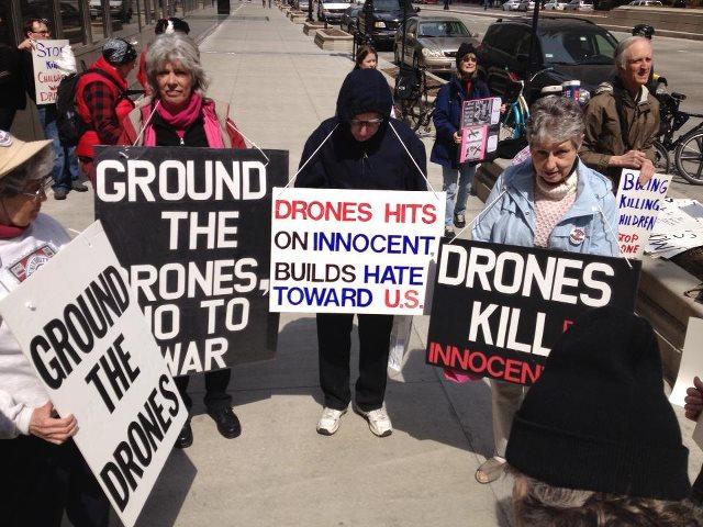Protest Drone Warfare, Chicago, 4.6.13