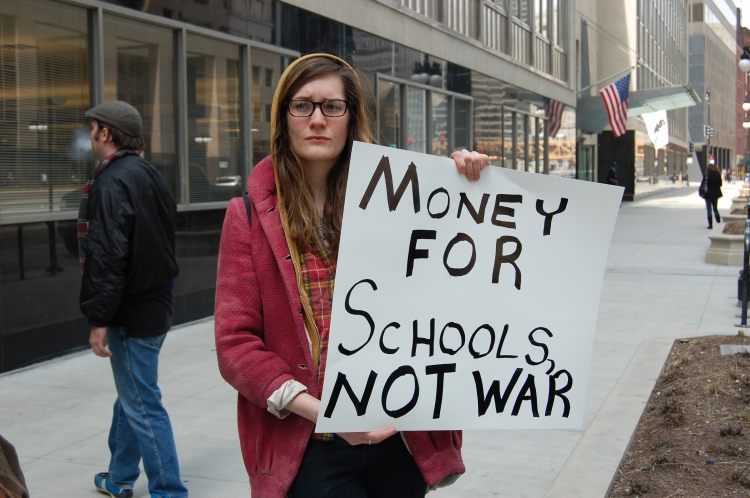 Money for Schools, Not War
