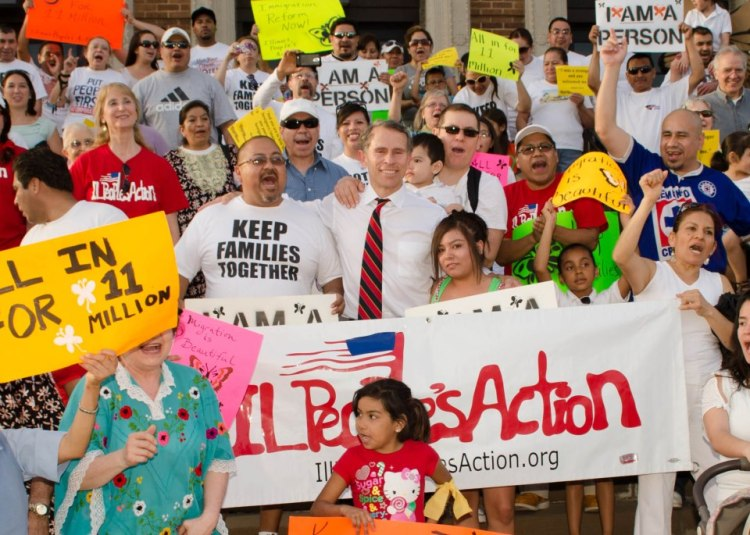 Illinois People's Action mobilizes community residents in support of immigration reform. Photo courtesy of Illinois People's Action.