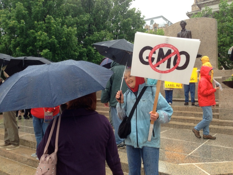 March on Monsanto in Springfield, IL. May 25, 2013