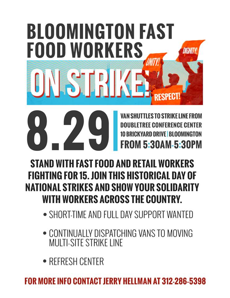 Bloomington Fast Food Strike