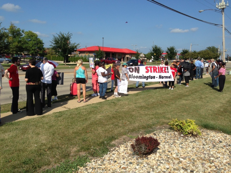 BloNo Fast Food Worker Strike 8.29.13